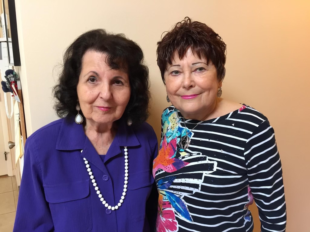 Blossom and sister Carol