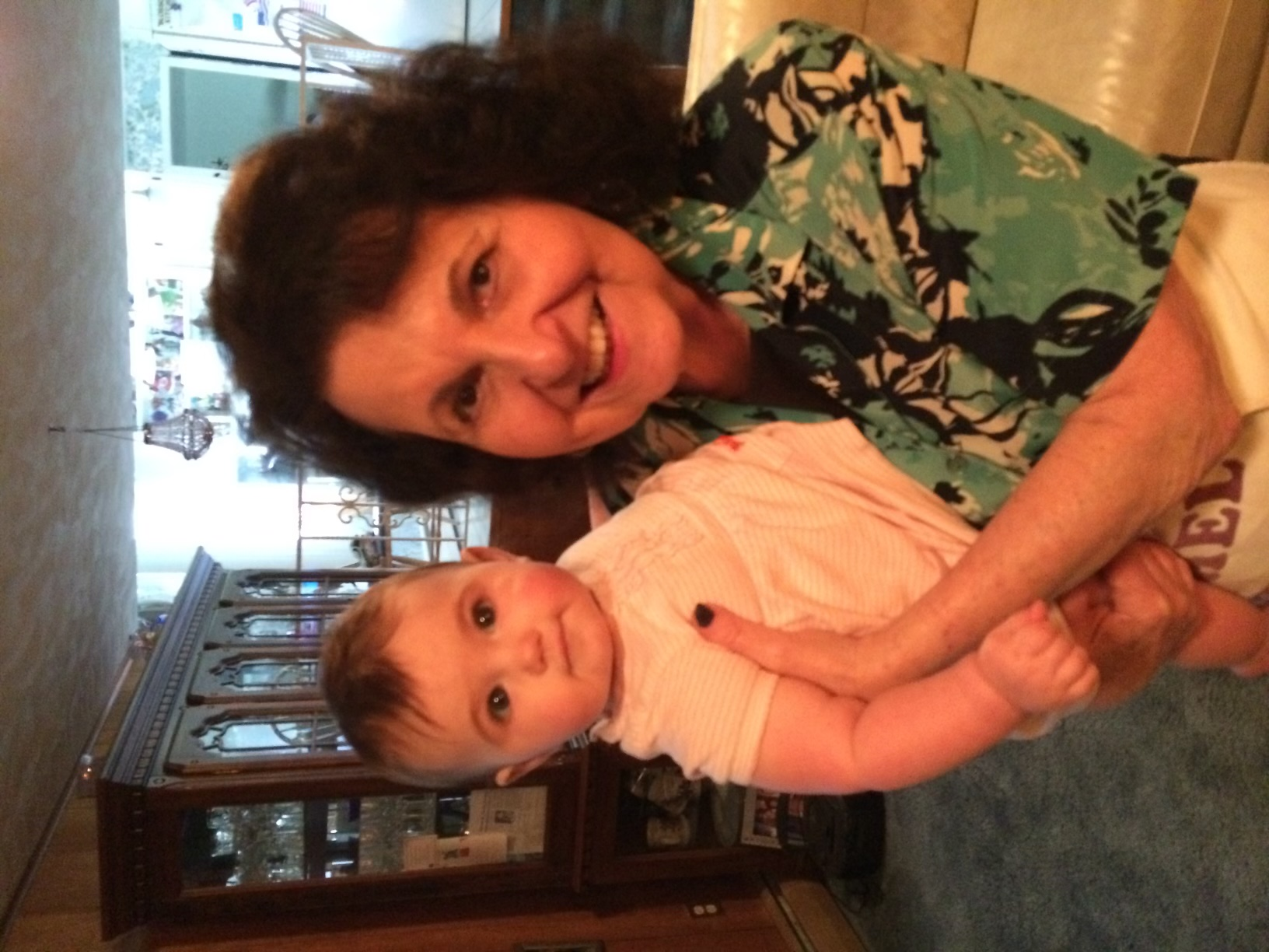 Blossom and great-granddaughter Hannah